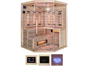 HOME DELUXE Infrarotkabine »Sahara XXL«, B/T/H: 150/150/200 cm, für bis zu 4 Personen, natur, natur
