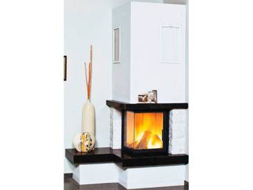 HARK Kaminbausatz »Nebraska Bank Links«, 8 kW, echter Mamor weiß, Simse Granit Royal-Black, weiß, weiß