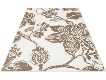my home Selection Teppich »Polina«, rechteckig, Höhe 13 mm, Besonders weich durch Microfaser, natur, 13 mm, beige