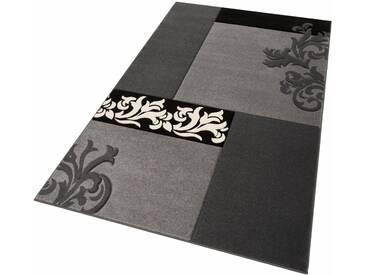 Home affaire Teppich »Jari«, rechteckig, Höhe 12 mm, schwarz, 12 mm, schwarz