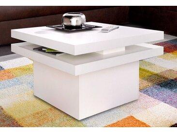 INOSIGN Couchtisch, mit Funktion - drehbare Tischplatte, weiß, weiß
