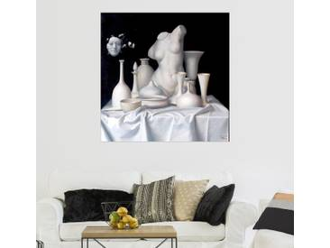 Posterlounge Wandbild - Alex Alemany »Apologie del Blanco«, grau, Forex, 30 x 30 cm, grau