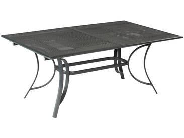MERXX Gartentisch »Delphi«, Aluminiumguss, ausziehbar, 170(230)x100 cm, grau, 170 (230) cm x 100 cm, graphit