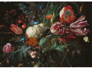 Art for the home Leinwand »Vase mit Blumen«, Ausschnitt, Jan Davidsz de Heem, rot, 100 cm, grün/rot/lila/blau
