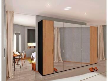 INOSIGN Drehtürenschrank mit mittigem Spiegel, 300 cm, schwarz