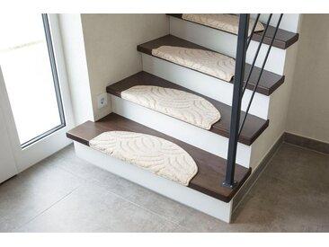 Andiamo Stufenmatte »Amberg«, stufenförmig, Höhe 9 mm, mit dekorativer Hoch-Tief-Struktur, natur, 9 mm, creme