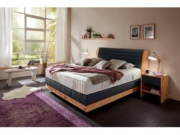 ADA premium Boxspringbett »Chalet«, Grand Comfort TF 1000 PM, schwarz, 7-Zonen-Tonnentaschenfederkern-Partnermatratze H2, schwarz HMV 10