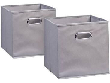 Zeller Present Zeller Aufbewahrungsbox »2er Set«, 28 x 28 cm, grau, grau