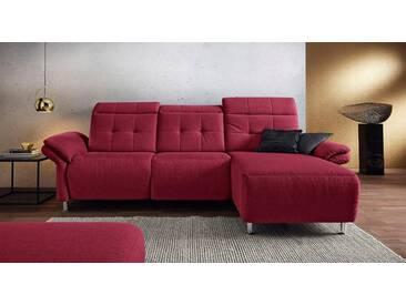 Places of Style Polsterecke »Manhattan« mit elektrischer Relaxfunktion, rot, Recamière rechts, red