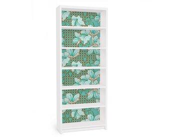 Bilderwelten Möbelfolie für IKEA Billy Regal »Orientalisches Blumenmuster«, bunt, Farbig