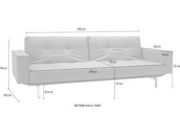 INNOVATION™ Sofa »Splitback« mit Armlehne und chromglänzenden Beinen, in skandinavischen Design, grau, darkgrey