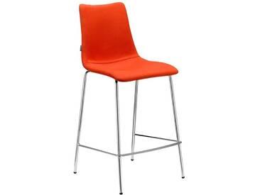 SalesFever Barhocker mit Chrombeinen gepolstert »Zebra Pop H.65«, orange, Textil, orange