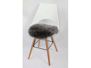 Heitmann Felle Sitzkissen »Sitzauflage Lamm rund«, echtes Lammfell, grau, anthrazit