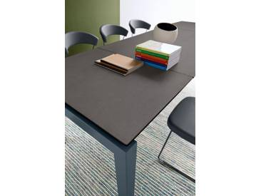 connubia by calligaris Tisch mit Tischplatte aus Keramik »Airport CB/4011«, grau, Metall grau matt, Keramik bleigrau