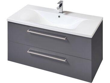 Schildmeyer SCHILDMEYER Waschplatz-Set »Torino«, Waschtisch, Breite 100 cm, 2-tlg., grau, grau