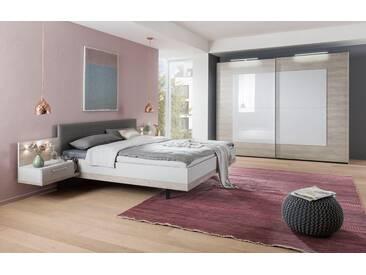 nolte® Möbel Schlafzimmer-Set »Novara«, grau, Liegefläche 140x200, seidengrau/Platin-Eiche Nachbildung