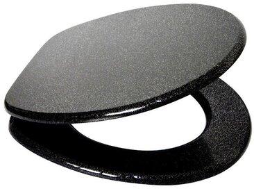 Sanilo SANILO WC-Sitz »Glitzer«, schwarz/glänzend