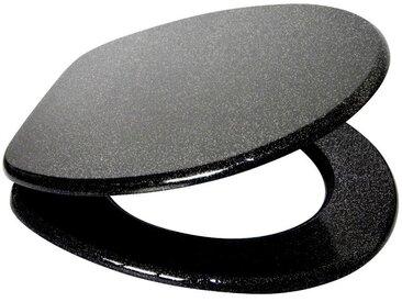 Sanilo SANILO WC-Sitz »Glitzer«, schwarz, schwarz/glänzend