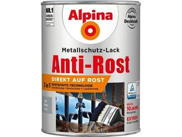 Alpina ALPINA Metallschutzlack »Anti-Rost - Matt Hellgrau«, 3in1, 2,5 l, grau, grau