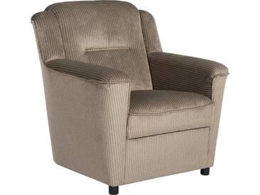 Max Winzer® Sessel »Plauen«, mit Keder-Verzierung, braun, hellbraun