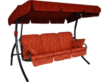 Angerer Freizeitmöbel ANGERER FREIZEITMÖBEL Hollywoodschaukel »Comfort Marbella«, 3-Sitzer, rot
