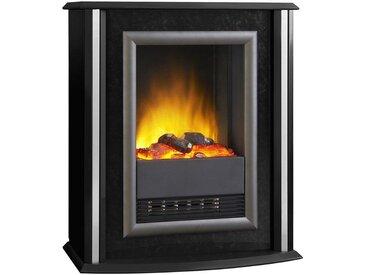Glen Dimplex EWT Elektrisches Kaminfeuer »Nelson«, schwarz, mit silberfarbigen Zierstreifen, schwarz, schwarz
