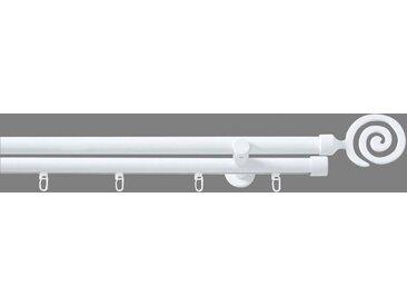 Good Life Kombi-Vorhangstange »Espiral«, Ø 20 mm, 2-läufig, Fixmaß, weiß, weiß