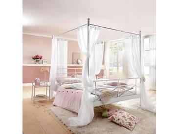 Home Affaire Metall Himmelbett, »Thora«, Weiß, 160/200 Cm
