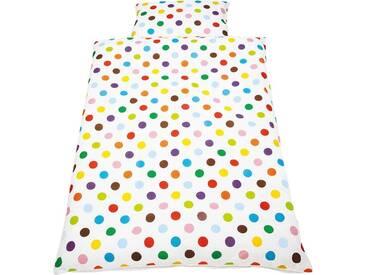 Pinolino® Babybettwäsche »Dots«, mit hochwertiger Paspelkonfektion, bunt, 1x 100x135 cm, Perkal, bunt