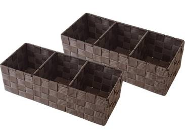 Franz Müller Flechtwaren Aufbewahrungsbox (Set, 2 Stück), braun, 35x15x10 cm, brown sugar