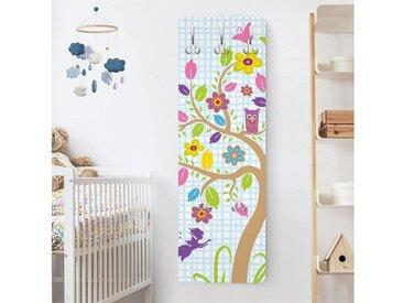 Bilderwelten Kindergarderobe 139x46x2cm »Feen Garten«, weiß, 139x46 cm, 139x46 cm, Weiß