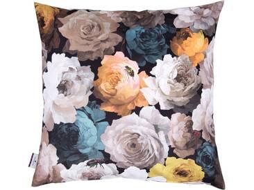 Tom Tailor Kissenhülle »VELVET FLOWERS«, braun, Polyester, braun-multi