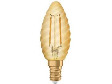 Osram LED-Lampe, Vintage-Edition, Kerze gedreht »Vintage 1906 LED 12 1.4 W/825 E14 GOLD«, goldfarben, gold