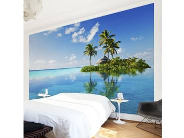Bilderwelten Vliestapete Breit »Tropisches Paradies«, blau, 320x480 cm, Blau