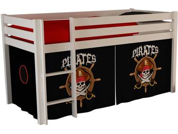Vipack Hochbett, Furniture, bunt, Weiß lackiert, Pirat