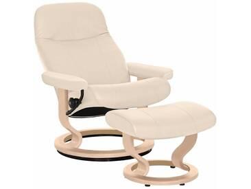 Stressless® Set: Relaxsessel mit Hocker »Garda« mit Classic Base, Größe M, mit Schlaffunktion, natur, Fuß naturfarben, cream