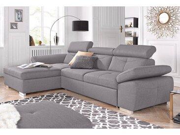 exxpo - sofa fashion Ecksofa, silberfarben, Keine Bettfunktion und Bettkasten, silver
