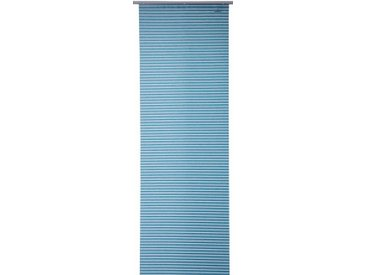 TOM TAILOR Schiebegardine »BROATLY LINES«, Klettband (1 Stück), inkl. Beschwerungsstange, grün, Klettband, halbtransparent, türkis