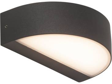 AEG Leuchten LED Außen-Wandleuchte »MONIDO«, 1-flammig, selbstreinigend, braun, 1 -flg. / Ø12,5 cm, anthrazit-weiß