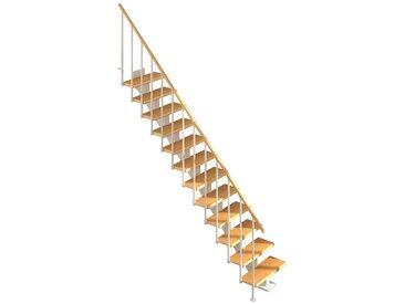 Dolle DOLLE Mittelholmtreppe »Hamburg Buche 75«, bis 279 cm, Metallgeländer, versch. Ausführungen, natur, gerade, natur