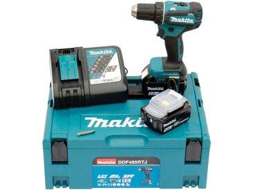 Makita MAKITA Akku-Bohrschrauber »DDF485RTJ3 / DDF485RTJ / DDF485Z«, 18 V, blau, 2 Akkus, blau