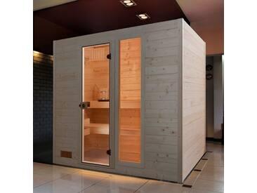 weka WEKA Sauna »Lars Trend 3«, 237x187x203,5 cm, 9-kW-Ofen mit int. Steuerung, natur, 9-kW-Ofen mit integrierter Steuerung, natur
