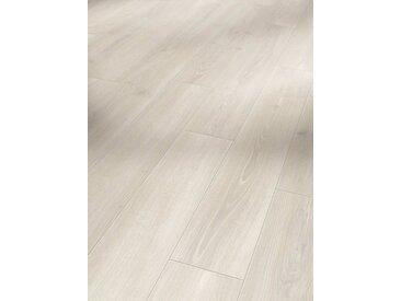 PARADOR Laminat »Classic 1050 - Eiche Skyline Weiss«, 1285 x 194 mm, Stärke: 8 mm, grau, grau