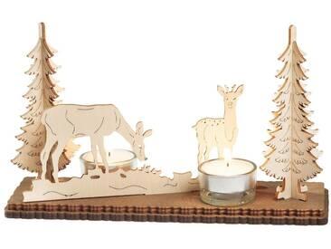 SAICO Original Teelichthalter, »Waldmotiv«, natur, natur