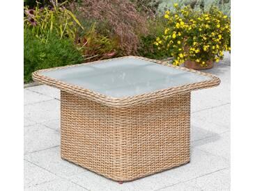 MERXX Gartentisch »Duplex Tisch«, Polyrattan, 72x72 cm, natur, natur, 71 cm x 72 cm, natur