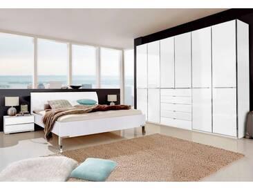 WIEMANN Schlafzimmer-Set »Shanghai«, weiß, weiß/Weißglas