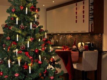 KONSTSMIDE LED Baumkette, Topbirnen, teilbarer Stecker, weiß, Lichtquelle warm-weiß, Weiß
