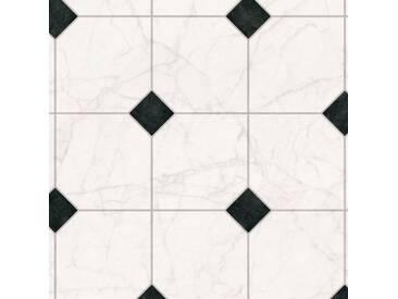 Andiamo ANDIAMO Vinylboden »Strong«, Fliese weiß-schwarz, weiß, 400 cm, schwarz/weiß