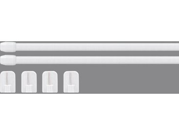 Good Life Scheibenstange »Vitrage«, Ø 11 mm, 1-läufig, ausziehbar, weiß, weiß