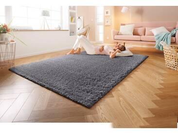Home affaire Hochflor-Teppich »Shaggy 30«, rechteckig, Höhe 30 mm, gewebt, grau, 30 mm, grau